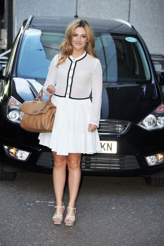 Isabel Hodgins Arrives at ITV Studios in London (7)