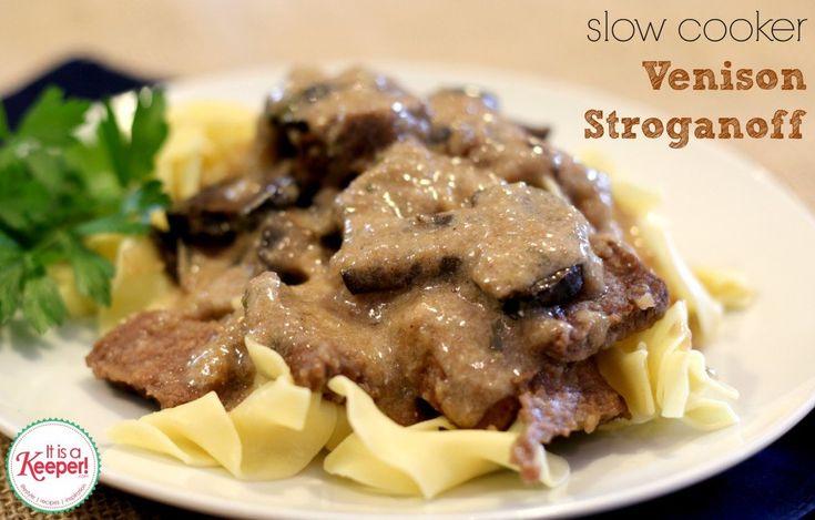 Venison Recipes: Slow Cooker Venison Stroganoff - it's a keeper