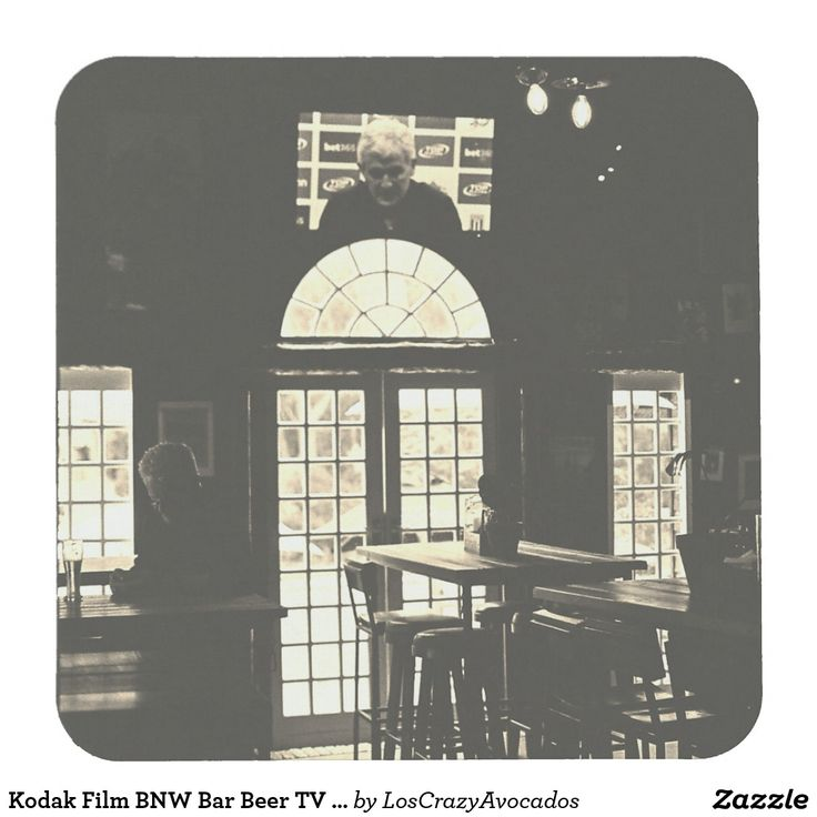 Kodak Film BNW Bar Beer TV Windows Coaster
