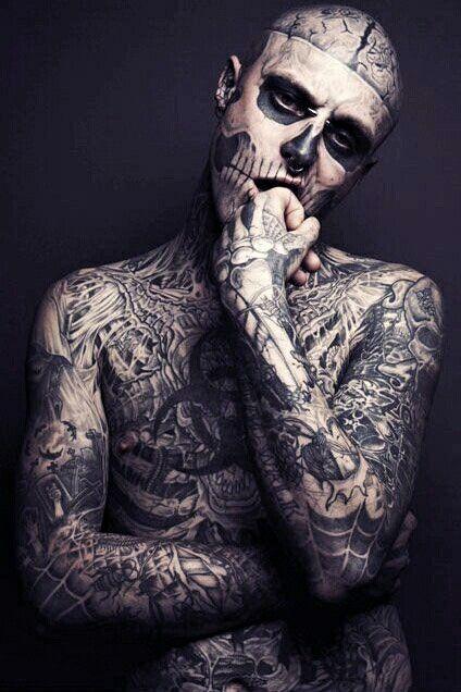 Pin De Fabian Bernald En Rick Genest Rick Genest Zombie Tattoos Y
