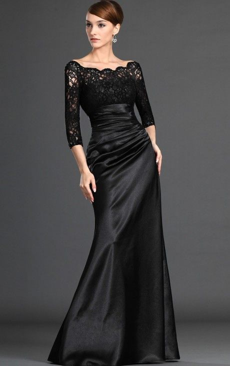 Popular Off The Shoulder Floor-Length Lace Dress