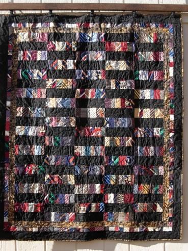 wow, such mal auf: Necktie quilt   Da wird mir ganz schwindelig :)