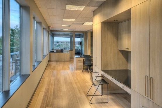 Office Design - Custom cabinetry in commercial office space