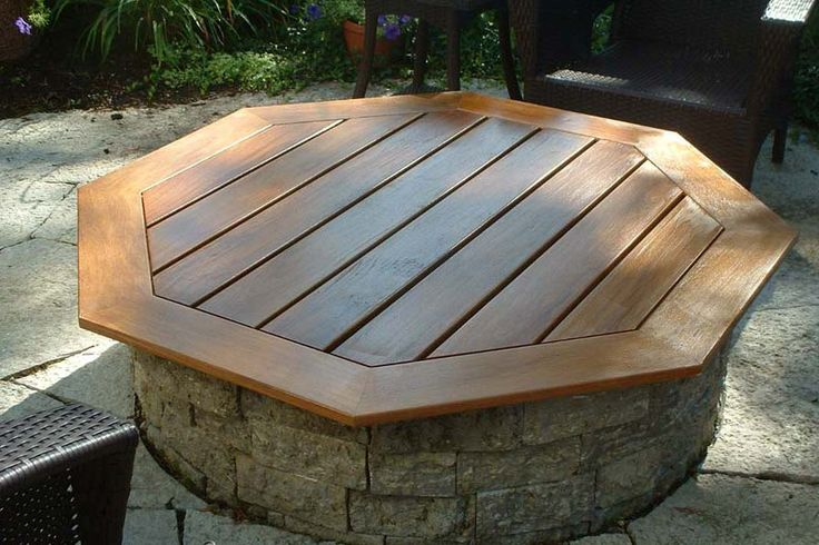 Built In Fire Pit Covers | Fire Pit Landscaping Ideas, Design ...