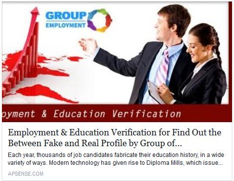 Employment & Education Verification for Find Out the Between Fake and Real Profile https://goo.gl/lQxros