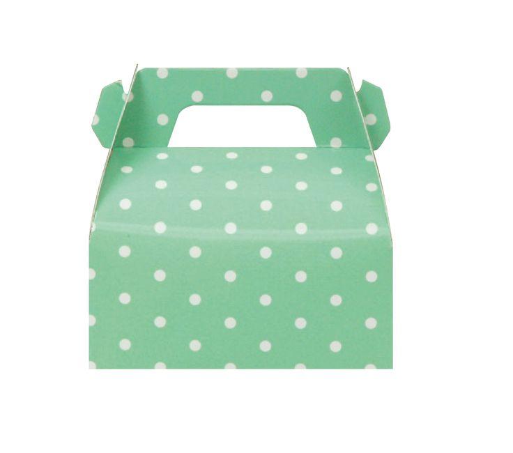 10 Green Polka Dots Gable Boxes, Polka Dot Gable Boxes, Green Gable Boxes, Green Baby Shower Favor, Green Candy Bar Boxes, Green Boxes. by MookiPartyShop on Etsy