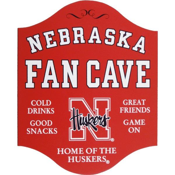 Husker Caveman Signs : Northwest gifts nebraska huskers fan cave sign go big