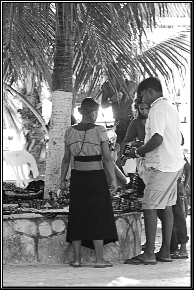 Venta ambulante en la Isla Mujeres-Mexico
