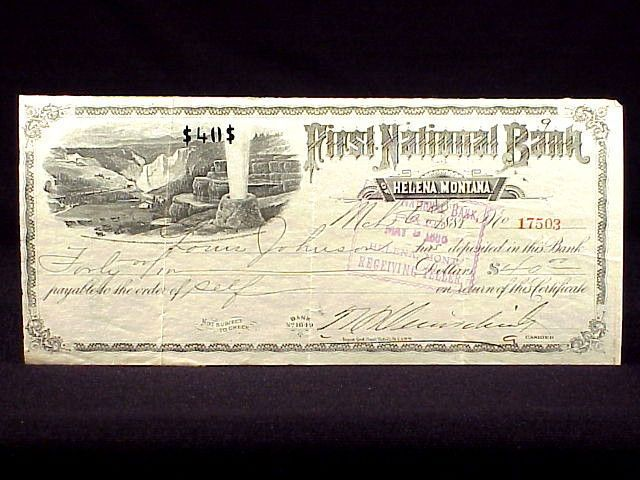 US $39.95 Used in Collectibles, Paper, Bank Checks & Drafts-SR
