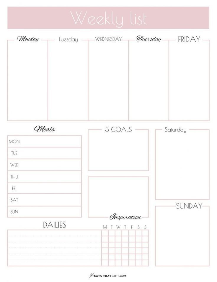 Printable Weekly List Planner How To Have A Productive Week Weekly Planner Template Weekly Planner Free Planner Printables Free