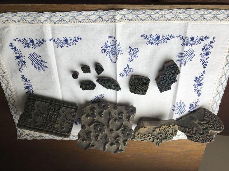 Holz Druckstock Blaudruck Stempel für Textildruck Stoffdruck Model Druckstempel   Antiquitäten & Kunst, Alte Berufe, Schneider   eBay!