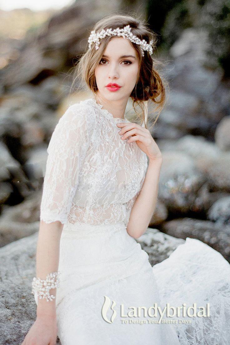 髪飾り パール ホワイト ガラス玉 アクセサリー 花嫁 LH0015020 税込: ¥7,020