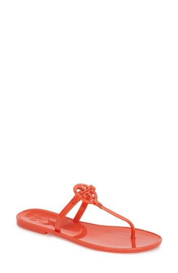 ceae4b71478b4e Free shipping and returns on Tory Burch  Mini Miller  Flat Sandal (Women)  at Nordstrom.com. A gleaming logo medallion takes center s…