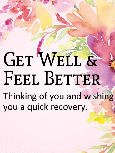 Thinking of You - Get Well Card