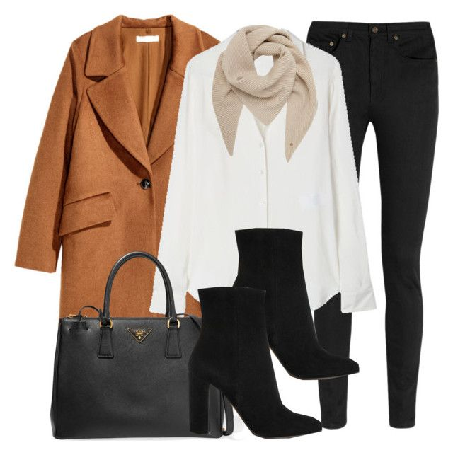 Style #11695 by vany-alvarado on Polyvore featuring polyvore, fashion, style, Theory, H&M, Yves Saint Laurent, Gianvito Rossi, Prada, Mulberry and clothing