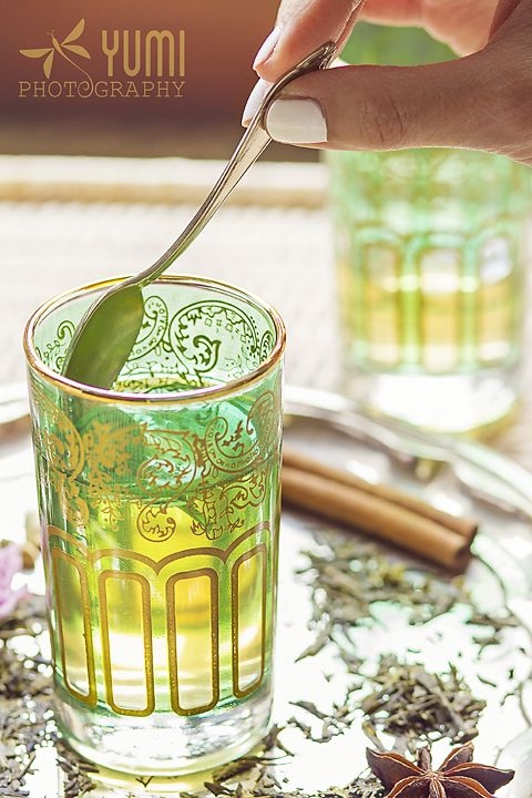 Moroccan mint green tea - Yumi Photography ♥ www.facebook.com/yumiphotoart ♥