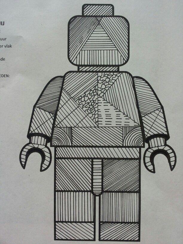 Oefening: arceren met fineliner -pattern 9th grade