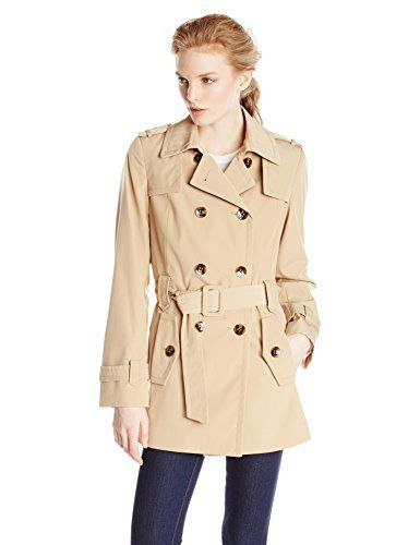 Calvin Klein Women's Double Breasted Belted Trench Coat