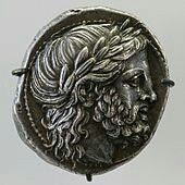 Philip II of Macedon - silver tetradrachm coin.