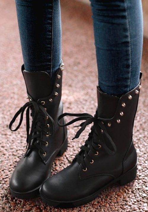 Mulheres botas falt tornozelo metade curto bota martin botas de neve de inverno quente sapatos calçados de qualidade P20362 rebites clássicos tamanho 34 40 em Botas tornozelo de Sapatos no AliExpress.com | Alibaba Group