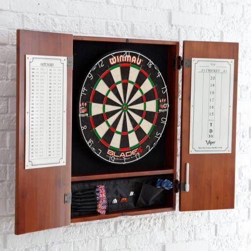 Winmau Blade 4 Bristle Dart Board and Cabinet Set