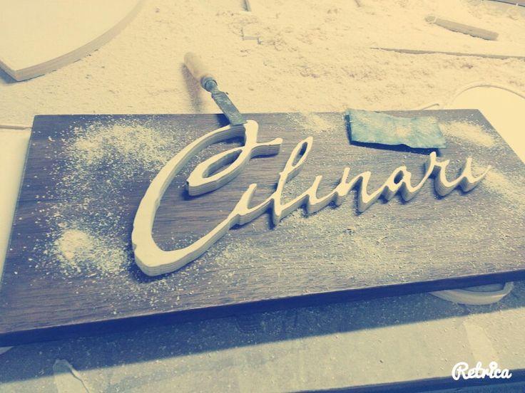 Wood working - Making of Logotype Cilinari