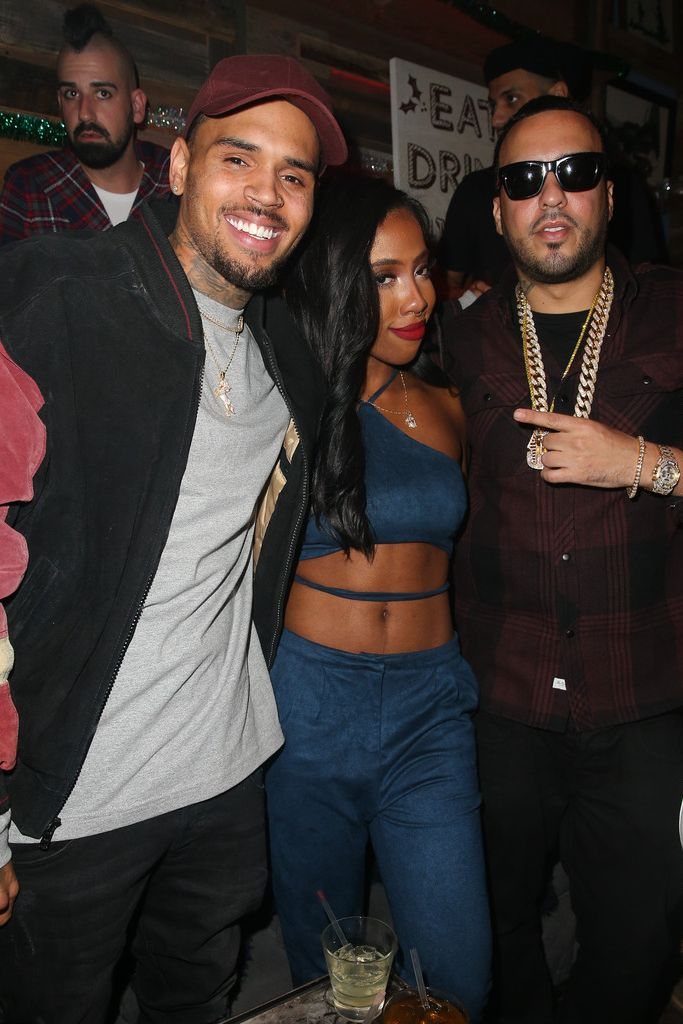 """Chris Brown, Sevyn & French Montana attend listening party for CB's new album """"Royalty"""""""