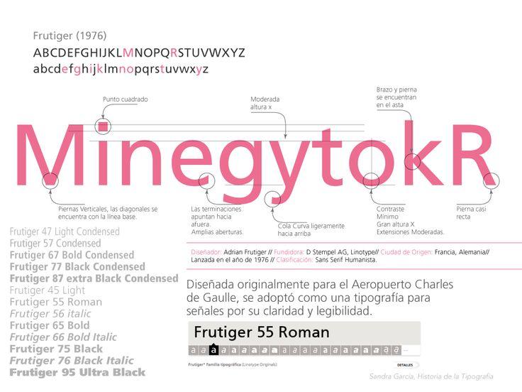 Análisis de las características de la tipografía de Frutiger, Frutiger.