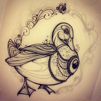 best 20 duck tattoos ideas on pinterest. Black Bedroom Furniture Sets. Home Design Ideas
