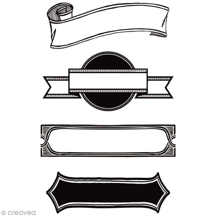 Tampon clear Rico Design - Bannières - Planche 10 x 18,5 cm