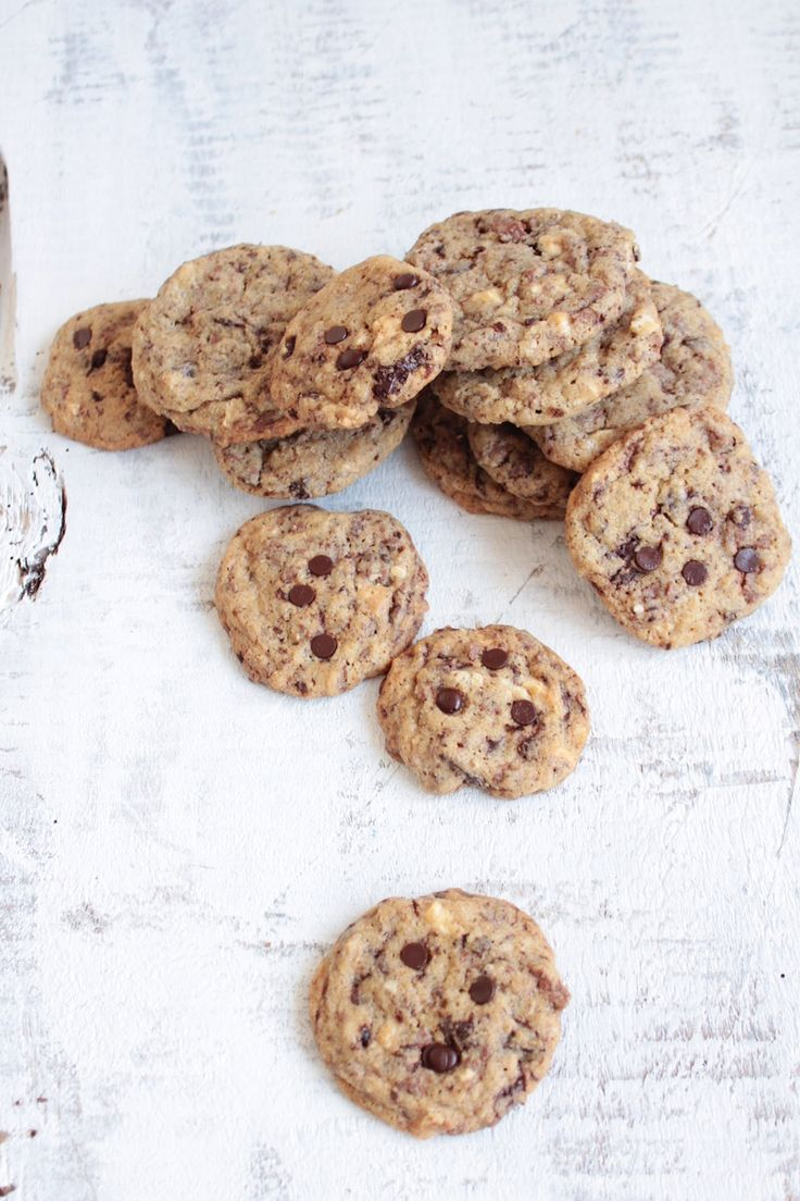 ciastka z kremem: chocolate chip cookies