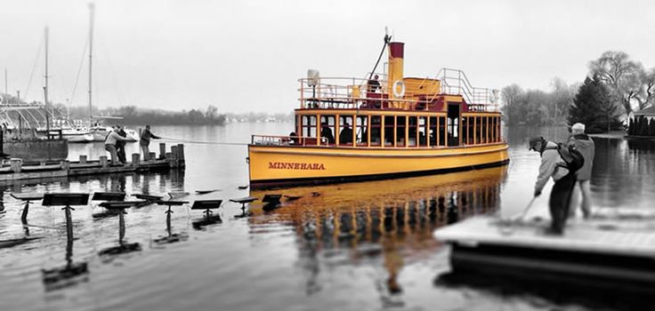 The Steamboat Minnehaha on Lake Minnetonka, MN.: