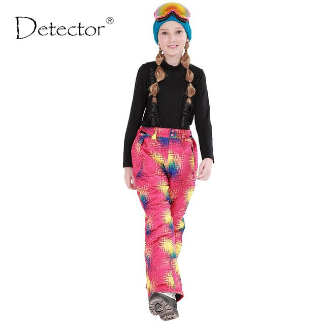 Deal Today $25.99, Buy Detector 2016 Winter Girls Ski Pants Windproof Overall Pants Tracksuits for Children Waterproof Warm Kids Boys Snow Ski Trousers