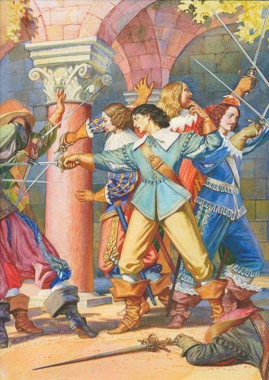 Открытки к трем мушкетерам, танго гифка поздравление