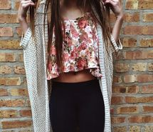 Вдохновляющая картинка тело, кардиган, одежда, наряд, мода, цветочный, девушка, волосы, хипстер, лук, режим, ootd, комплект одежды, стиль, свитер, 1550567 - Размер 480x480px - Найдите картинки на Ваш вкус