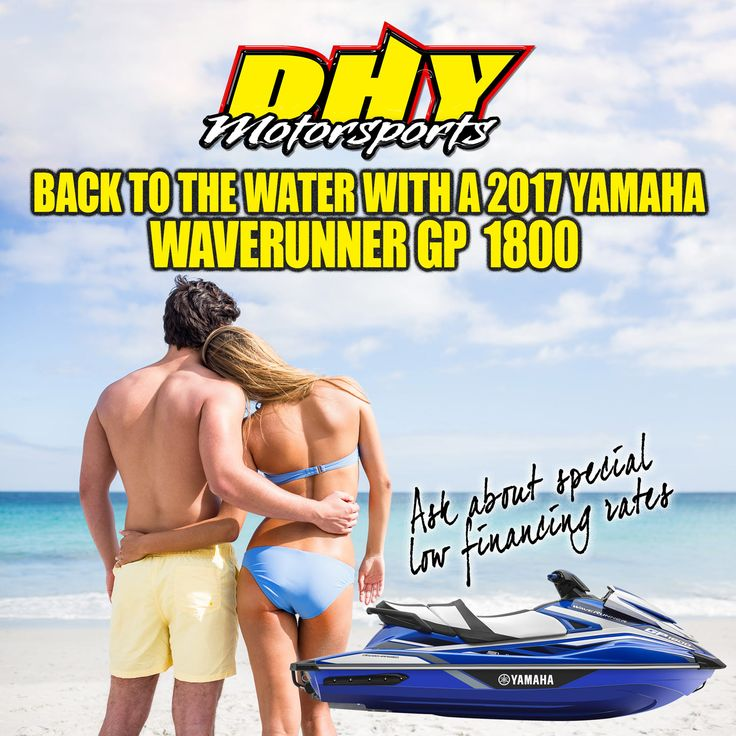Time for some fun on the water with a #Yamaha #Waverunner #GP1800 from #DHYMotorsports. #summer #funinthesun #ridingthewaves