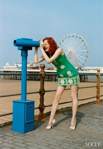 "Karen Elson in Anna Sui, photographed by Tim Walker for ""Under the Boardwalk,"" 2003"
