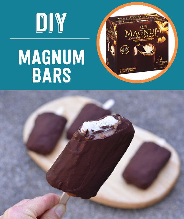 Homemade Caramel Magnum Bars (Vegan) | 13 Classic Ice Cream Truck Treats You Can Make At Home #Foodhack