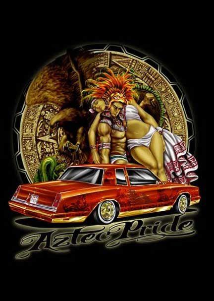 Best 25 lowrider art ideas on pinterest chicano love for Aztec mural tattoos