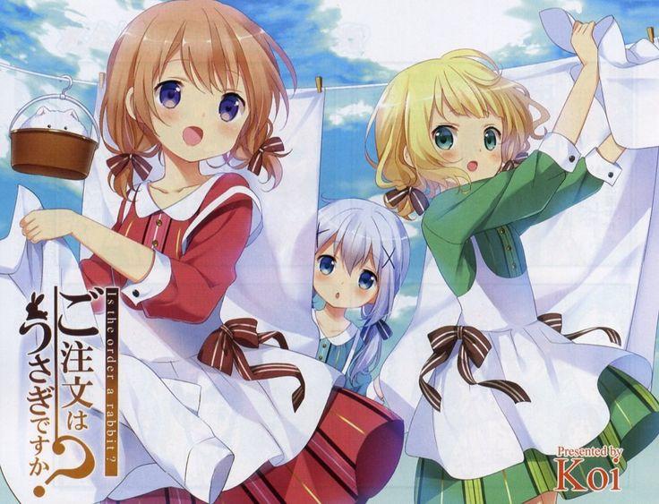 Cocoa, Syaro, & Chino | Gochuumon wa Usagi Desu ka?