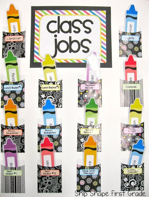 Classroom Job Ideas 3rd Grade : Best images about crayola theme classroom on pinterest