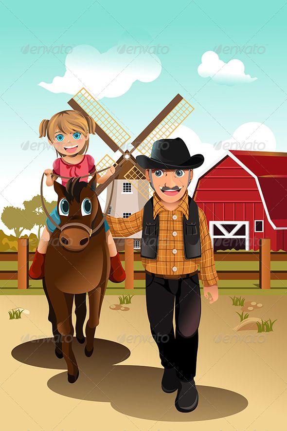 8 best farmer vector cartoons images on pinterest