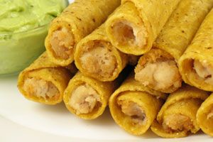 Cheesy Chicken Taquitoes - needless to say I'm changing to recipe to suit our tastes.  I never seem to use a recipe as it is written.  *G*