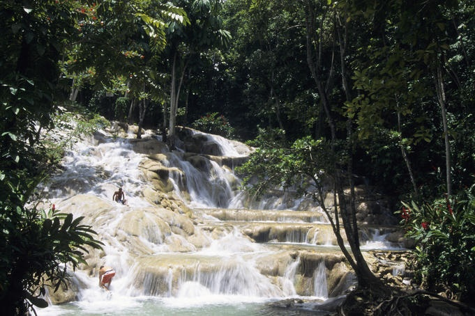 Dunns Rivers Fall, Jamaica  One of the places I went to on my honeymoon. Climbed all the way to the top