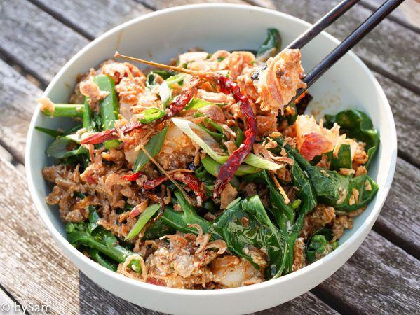 Momofuku recept voor pittige worst met tofu en rice cake