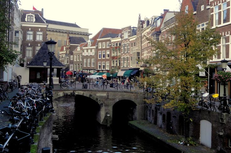 The Vismarkt along the Oudegracht in Utrecht Centrum.