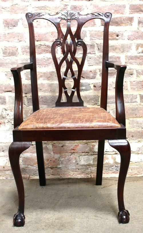 Antique Mahogany Chipendale Style Chair