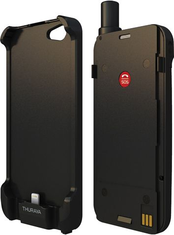 Softbank - Satellite phone, shaped like a smartphone case, that works with iPhone 5