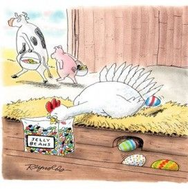 funny easter cartoon dp