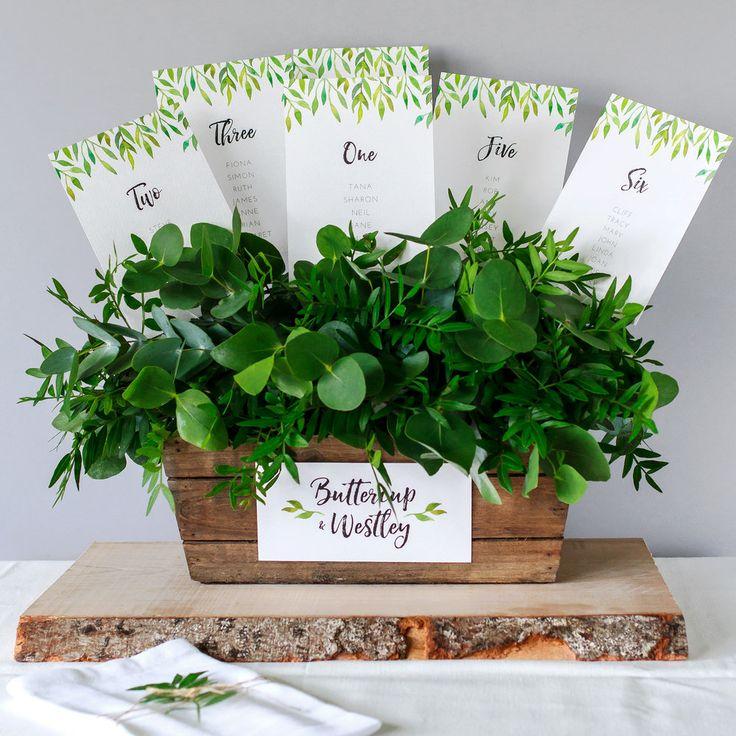 Modern Table Plan, Alternative Table Planner, Seating Planner, Seating Plan Chart, Table Plan Cards, Botaniclal, Greenery, Hand Painted Watercolour, Secret Garden2.jpg